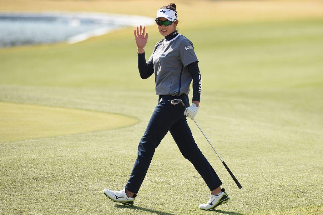 アクサレディスゴルフトーナメント in MIYAZAKI 第2日 原英莉花 <Photo:Matt Roberts/Getty Images>