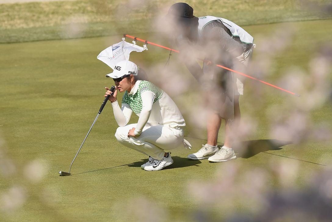 アクサレディスゴルフトーナメント in MIYAZAKI 最終日 比嘉真美子 <Photo:Matt Roberts/Getty Images>