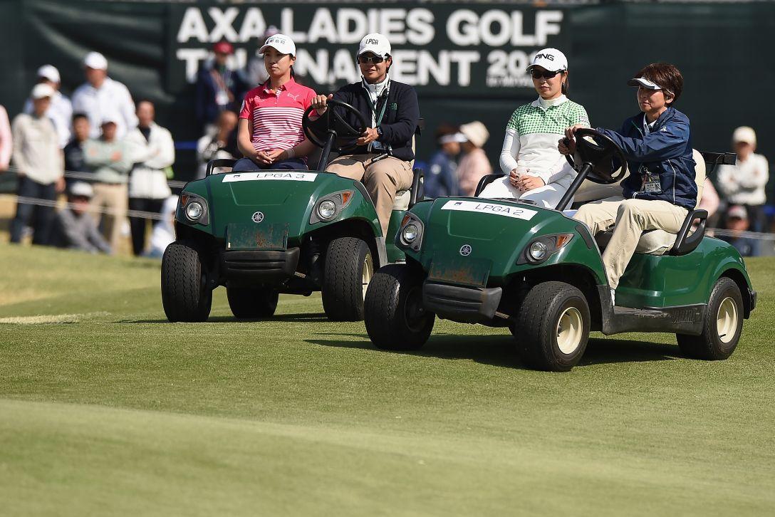 アクサレディスゴルフトーナメント in MIYAZAKI 最終日 フェービー・ヤオ 比嘉真美子 <Photo:Matt Roberts/Getty Images>