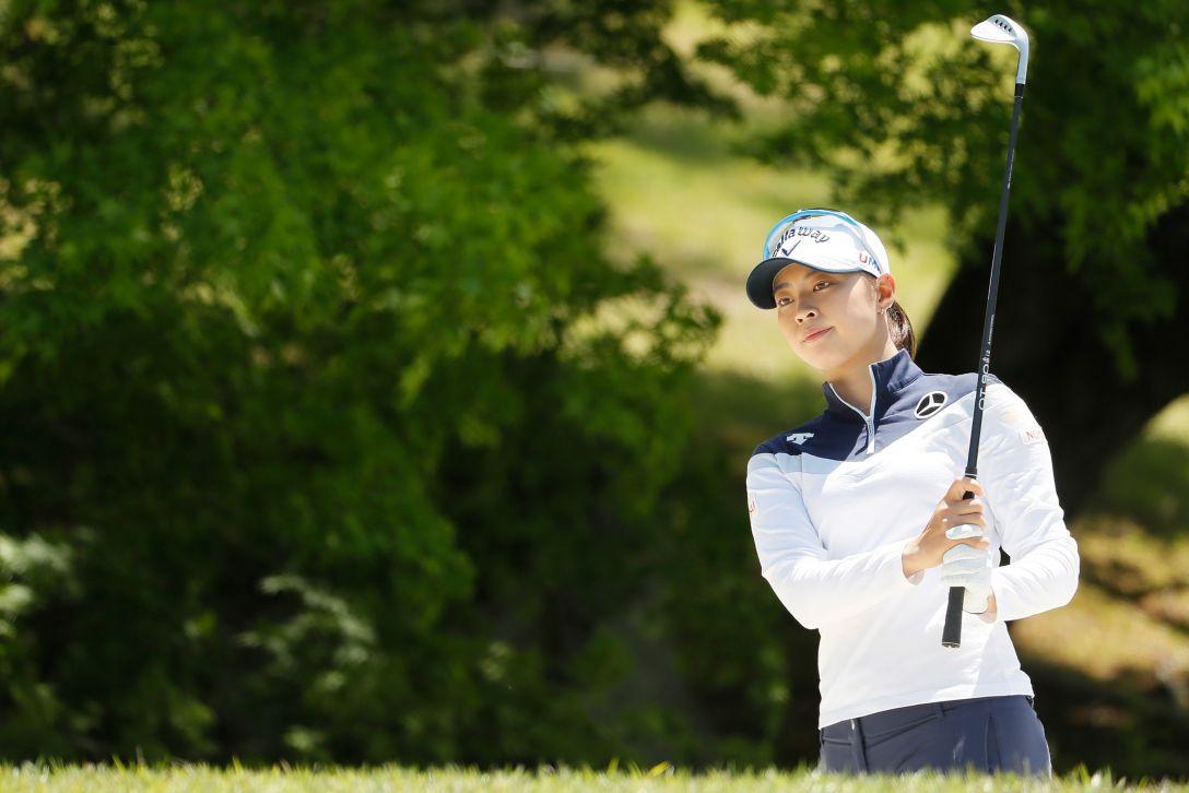 サイバーエージェント レディスゴルフトーナメント 第2日 柏原 明日架 <Photo:Ken Ishii/Getty Images>