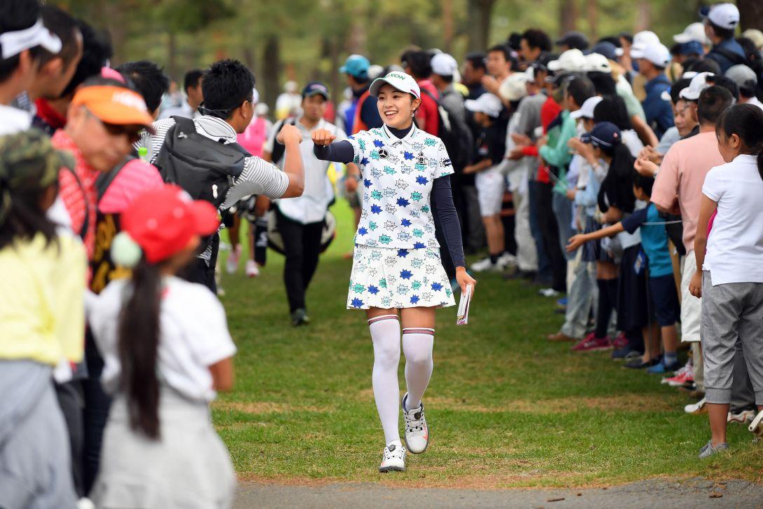 ワールドレディスチャンピオンシップ サロンパスカップ 第2日 三浦桃香 <Photo:Atsushi Tomura/Getty Images>