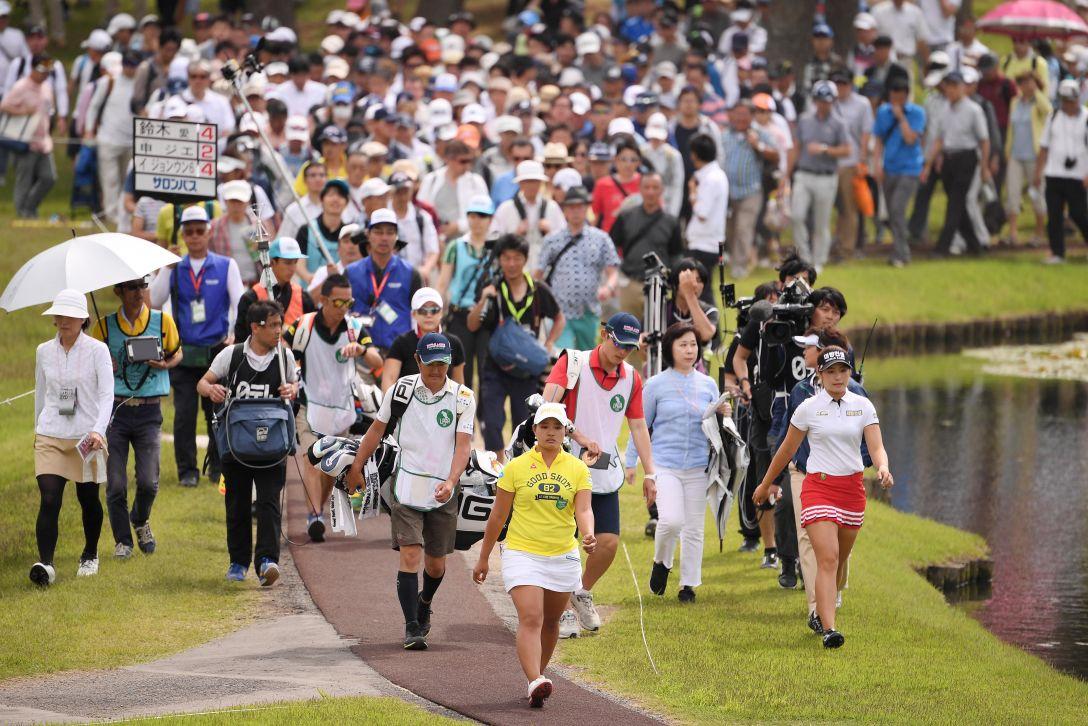 ワールドレディスチャンピオンシップ サロンパスカップ 最終日 鈴木愛 申ジエ イジョンウン6 <Photo:Atsushi Tomura/Getty Images>