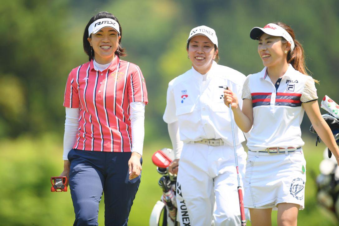 ヨネックスレディスゴルフトーナメント 最終日 大山志保 木村彩子 <Photo:Atsushi Tomura/Getty Images>