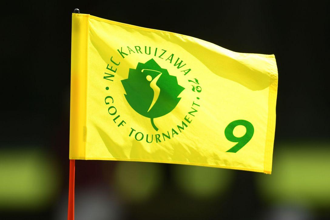 NEC軽井沢72ゴルフトーナメント ピンフラッグ <Photo:Atsushi Tomura/Getty Images>