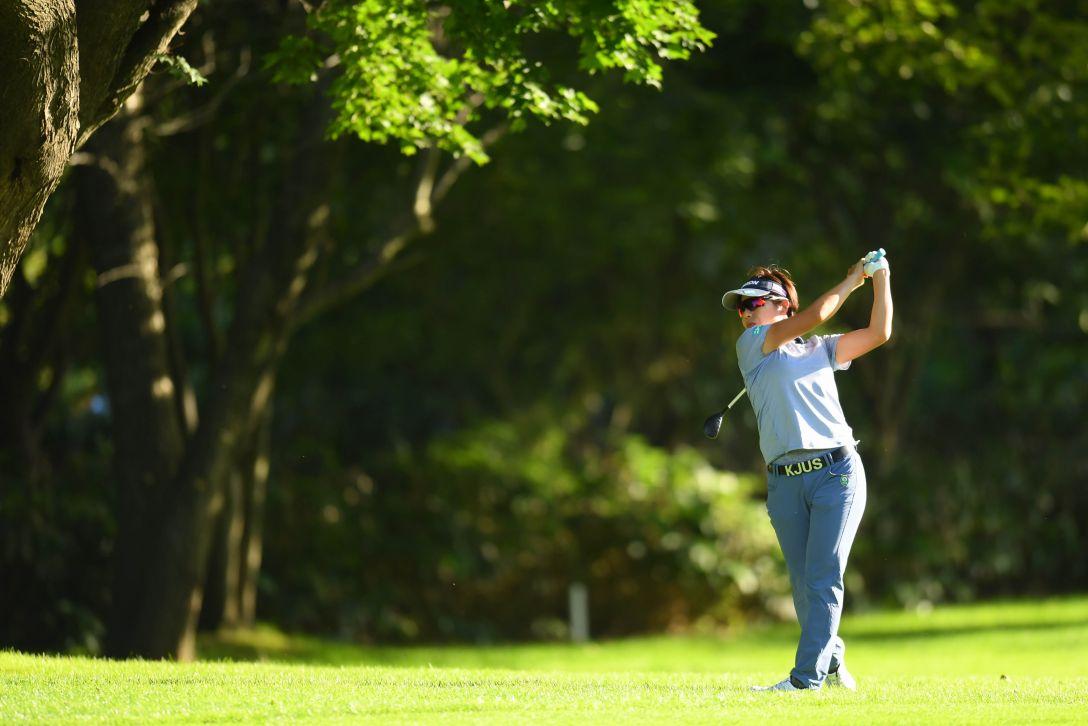 ニトリレディスゴルフトーナメント 第1日 岡山絵里 <Photo:Atsushi Tomura/Getty Images>