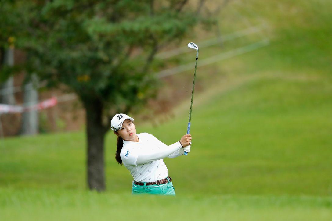 ゴルフ5レディス プロゴルフトーナメント 第1日 佐伯 朱音 <Photo:Ken Ishii/Getty Images>