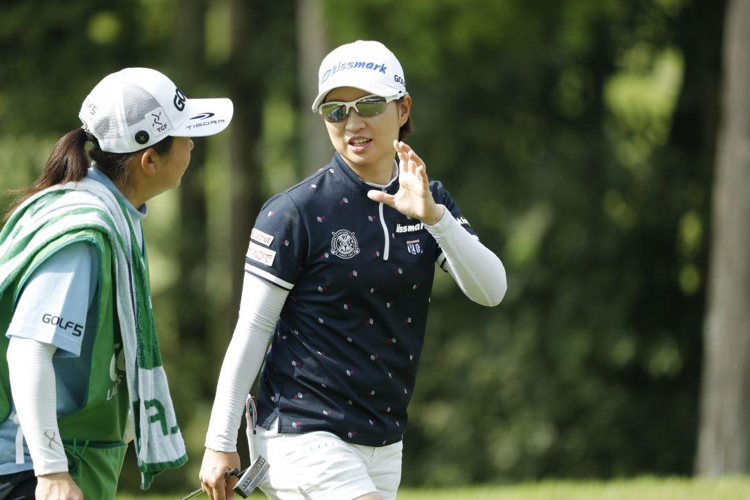ゴルフ5レディス プロゴルフトーナメント 第1日 川満 陽香理 <Photo:Ken Ishii/Getty Images>