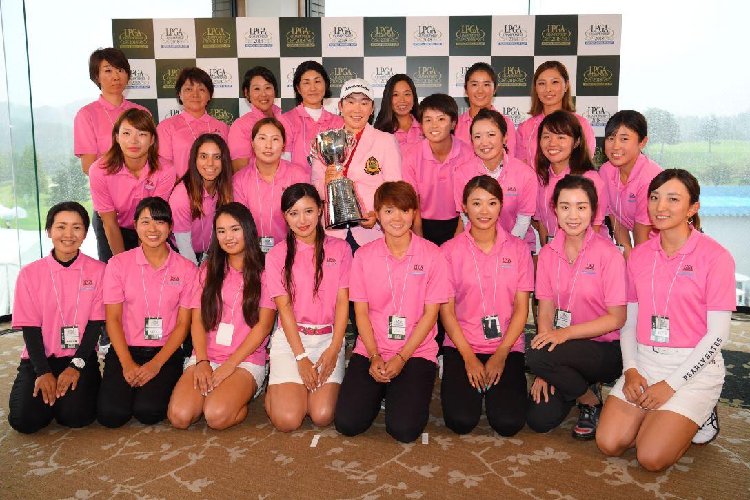 日本女子プロゴルフ選手権大会コニカミノルタ杯 最終日 申ジエ ルーキー <Photo:Atsushi Tomura/Getty Images>