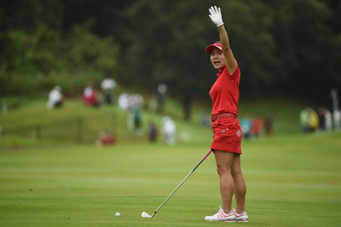 日本女子プロゴルフ選手権大会コニカミノルタ杯 最終日 有村智恵 <Photo:Matt Roberts/Getty Images>