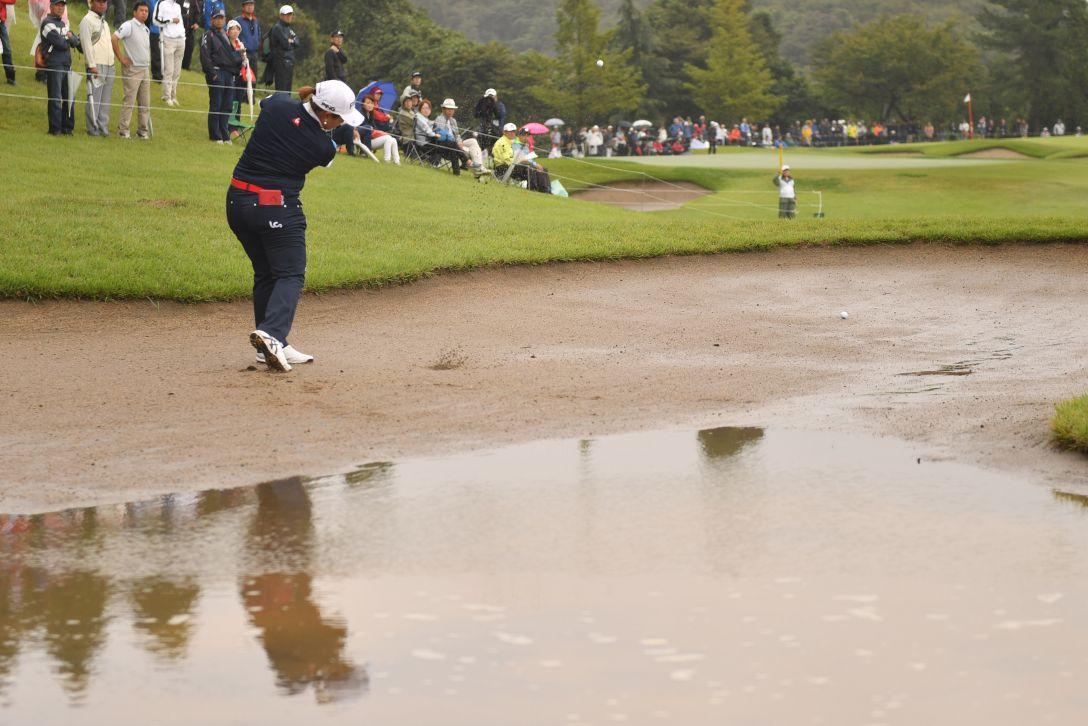 ミヤギテレビ杯ダンロップ女子オープンゴルフトーナメント 第2日 鈴木愛 <Photo:Atsushi Tomura/Getty Images>