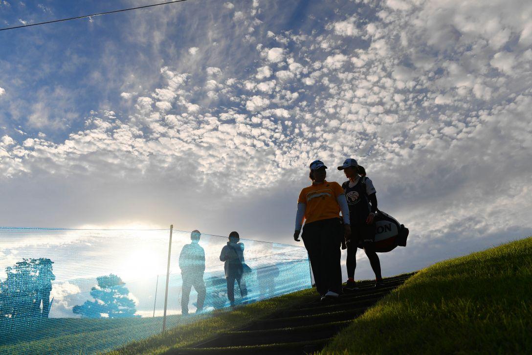 ミヤギテレビ杯ダンロップ女子オープンゴルフトーナメント 第2日 佐伯三貴 <Photo:Atsushi Tomura/Getty Images>