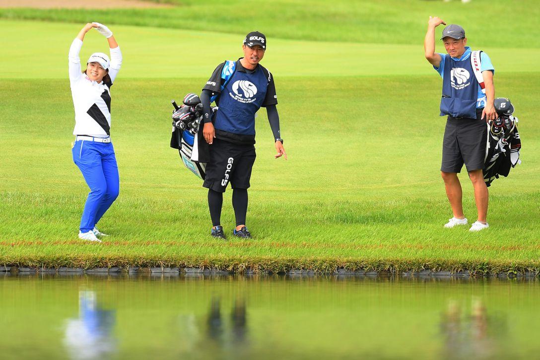 ミヤギテレビ杯ダンロップ女子オープンゴルフトーナメント 第2日 永峰咲希 <Photo:Atsushi Tomura/Getty Images>