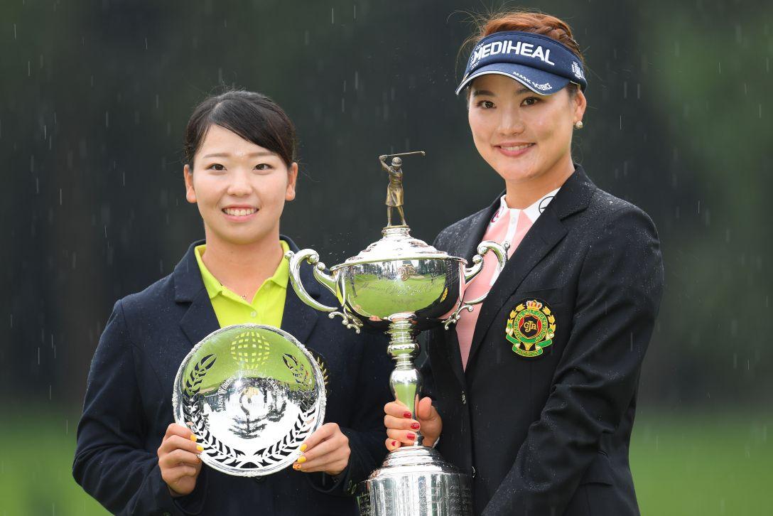日本女子オープンゴルフ選手権 最終日 後藤未有 ユソヨン <Photo:Atsushi Tomura/Getty Images>