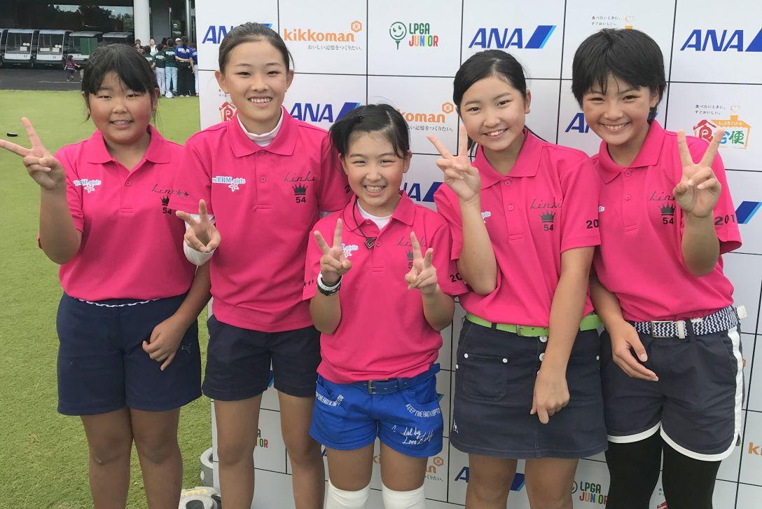 熱戦 激戦 LPGA全日本小学生ゴル...