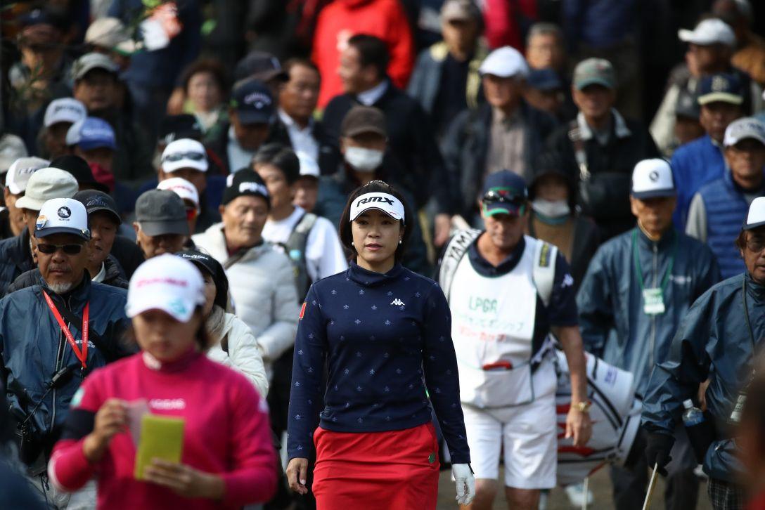 LPGAツアーチャンピオンシップリコーカップ 第3日 大山志保 永峰咲希 <Photo:Chung Sung-Jun/Getty Images>