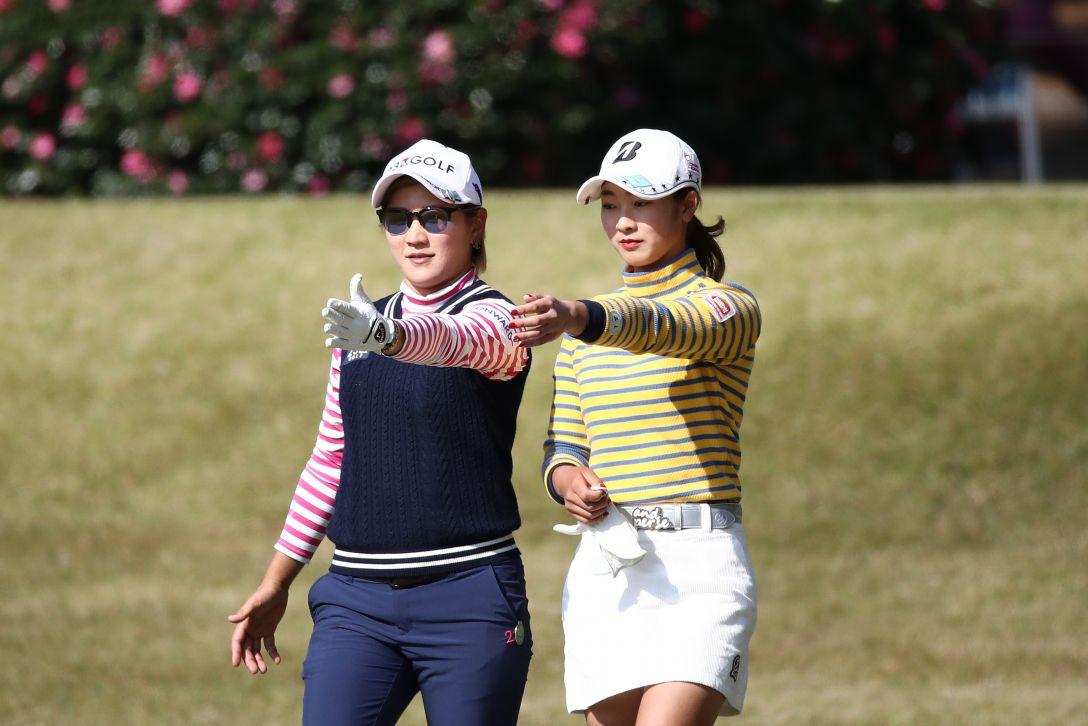 LPGAツアーチャンピオンシップリコーカップ 第3日 成田美寿々 松田鈴英 <Photo:Chung Sung-Jun/Getty Images>