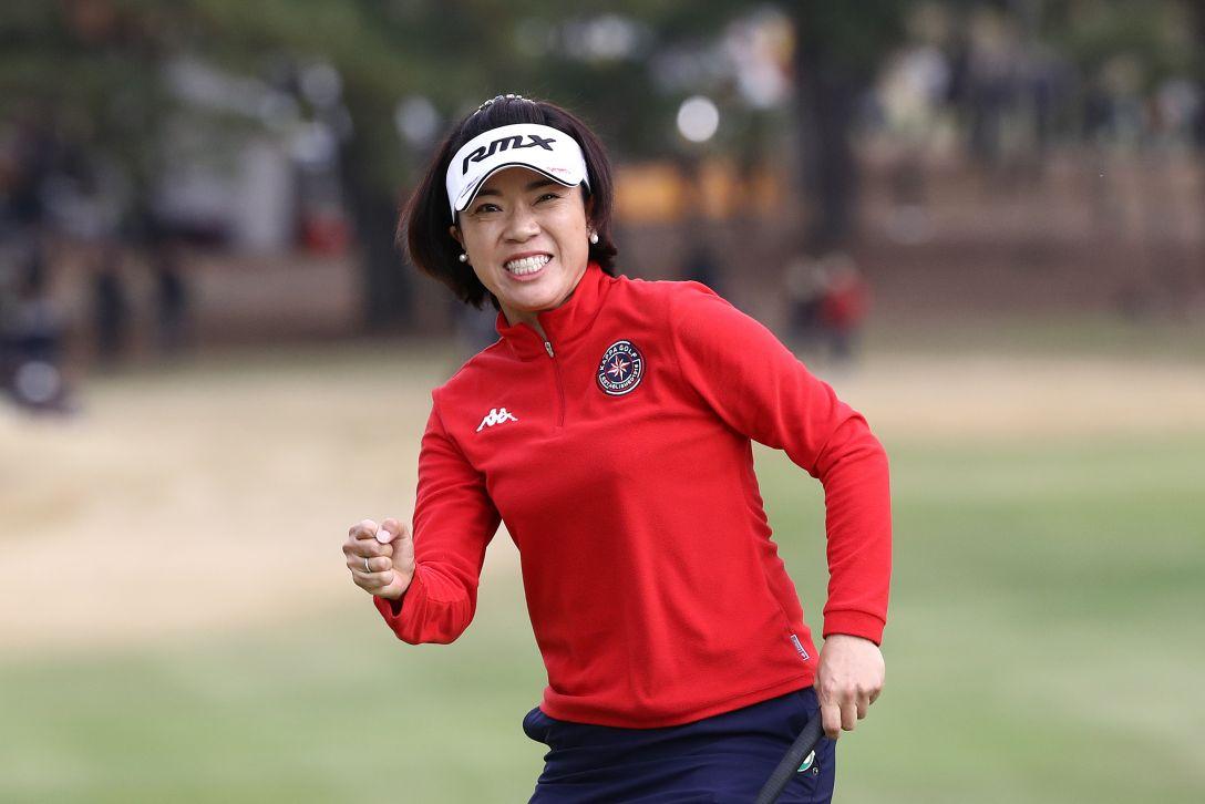 LPGAツアーチャンピオンシップリコーカップ 最終日 大山志保 <Photo:Chung Sung-Jun/Getty Images>