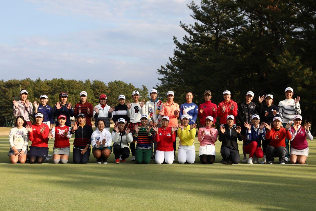 LPGAツアーチャンピオンシップリコーカップ 最終日 全員集合 <Photo:Chung Sung-Jun/Getty Images>