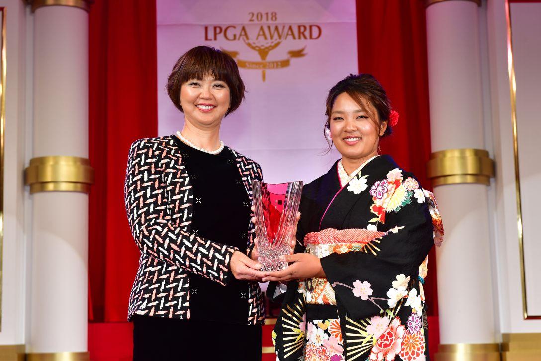 LPGAアワード2018 鈴木愛<Photo:Atsushi Tomura/Getty Images>