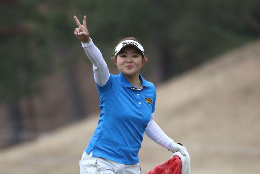 Tポイント×ENEOS ゴルフトーナメント 第1日 淺井咲希 <Photo:Chung Sung-Jun/Getty Images>