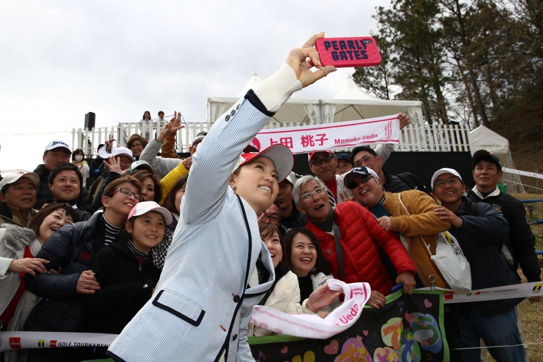 Tポイント×ENEOS ゴルフトーナメント 最終日 上田桃子 <Photo:Chung Sung-Jun/Getty Images>