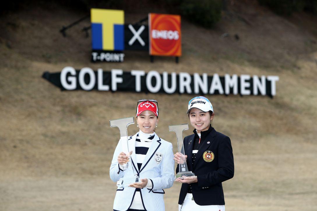Tポイント×ENEOS ゴルフトーナメント 最終日 上田桃子 安田祐香 <Photo:Chung Sung-Jun/Getty Images>