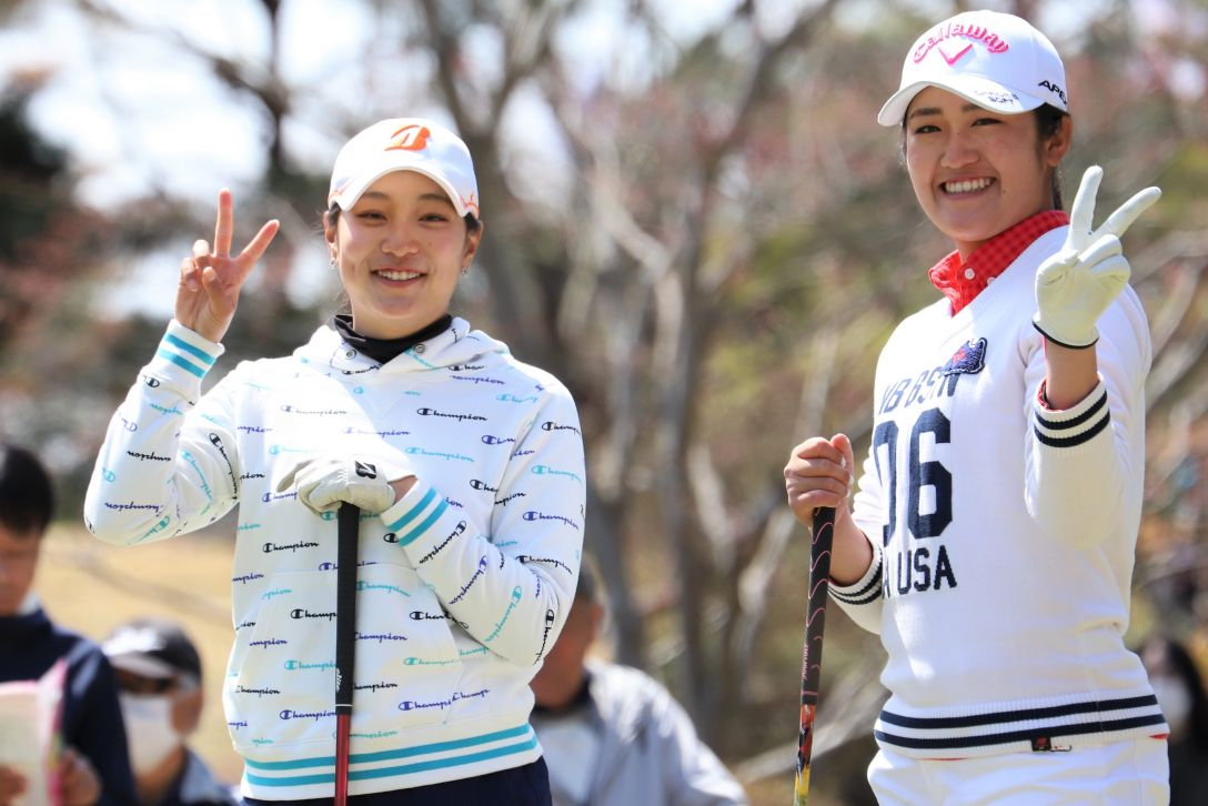 Hanasaka Ladies Yanmar Golf Tournament 第1日 西畑萌香 稲見萌寧