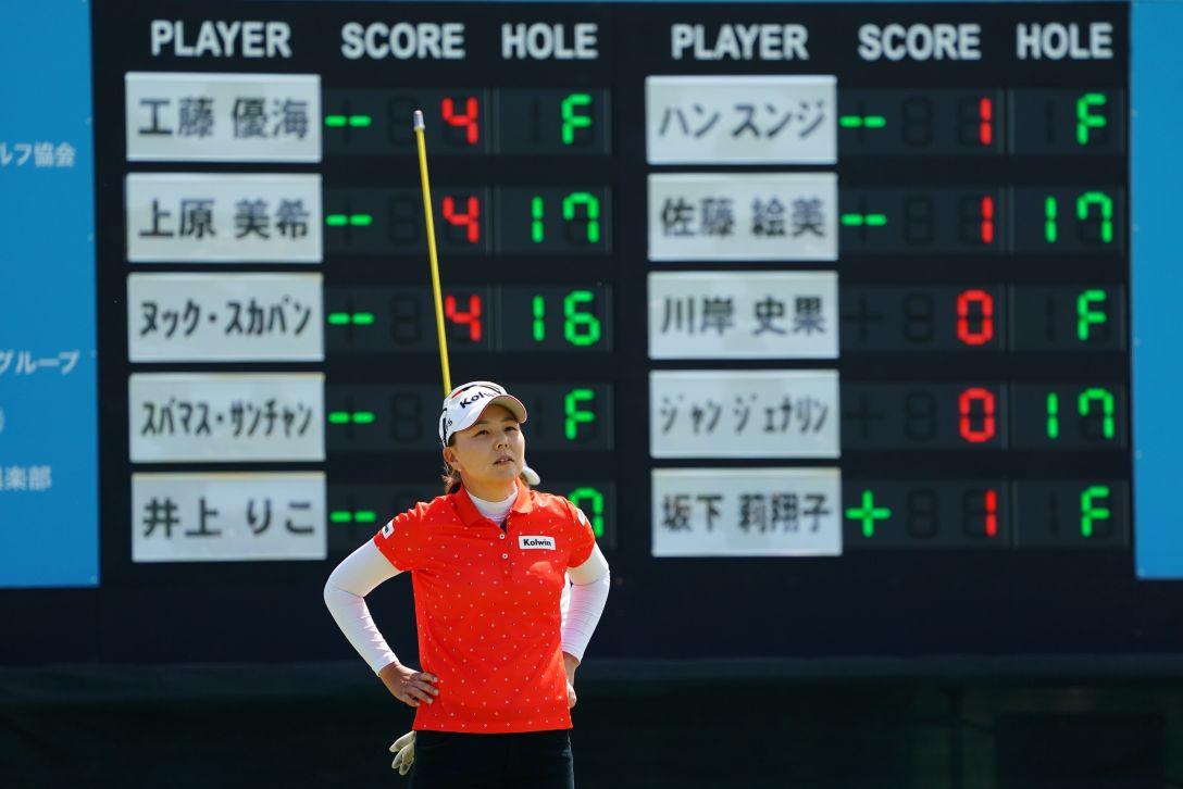九州みらい建設グループレディースゴルフトーナメント 最終日 上原美希 <Photo:Masterpress/Getty Images>
