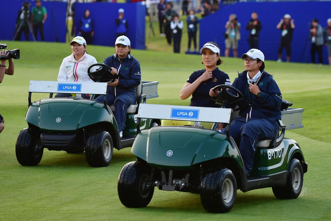 パナソニックオープンレディースゴルフトーナメント 最終日 勝みなみ 全美貞 <Photo:Atsushi Tomura/Getty Images>