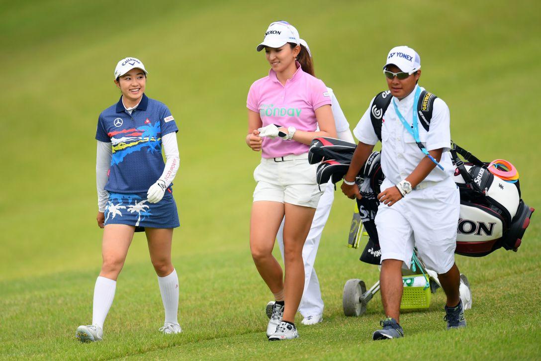 ヨネックスレディスゴルフトーナメント 第1日 三浦桃香 脇元華 <Photo:Atsushi Tomura/Getty Images>