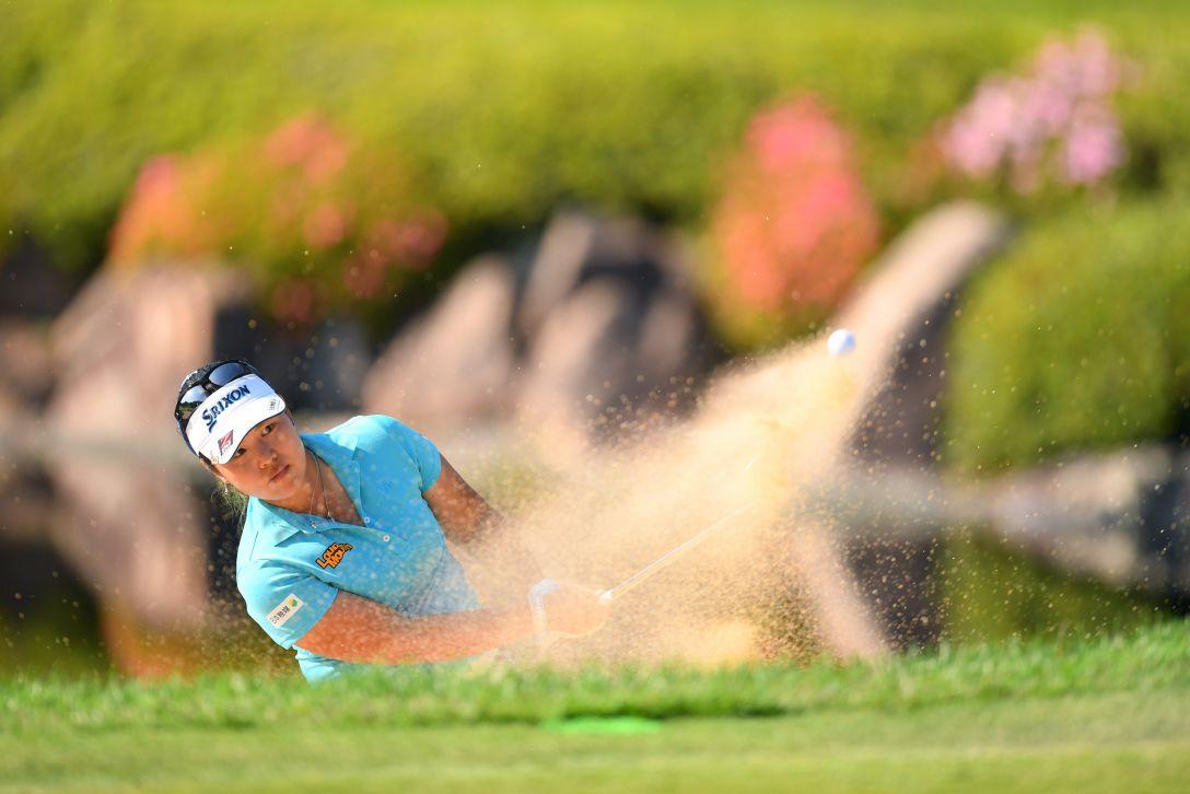 宮里藍 サントリーレディスオープンゴルフトーナメント 第1日 ささきしょうこ <Photo:Atsushi Tomura/Getty Images>
