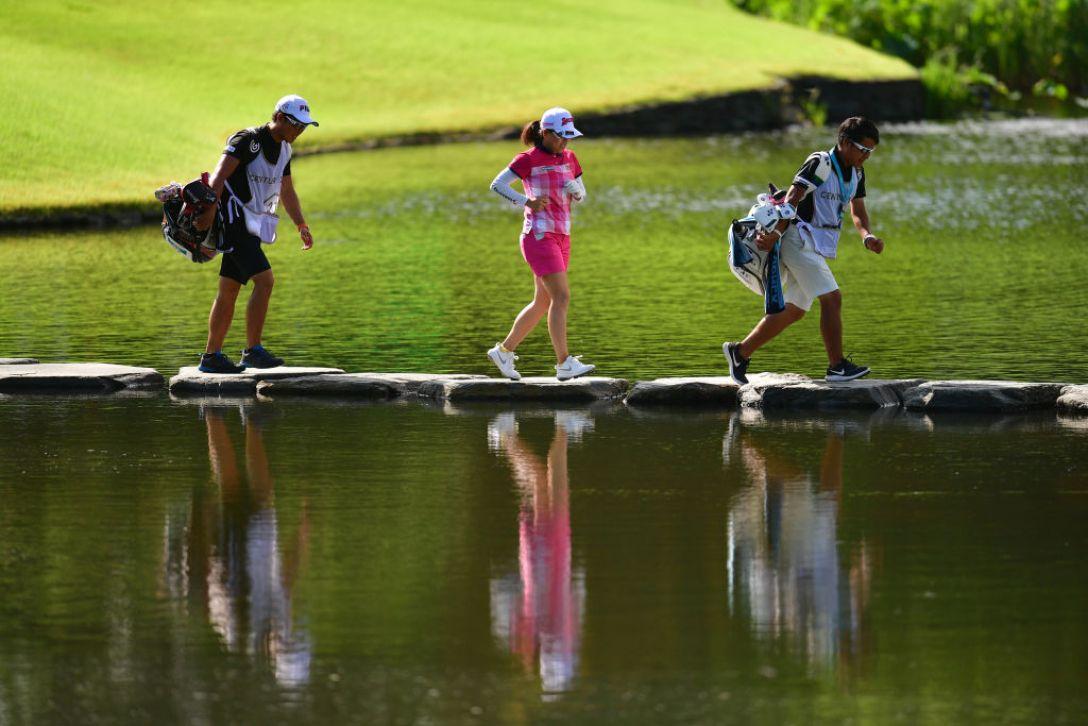 センチュリー21レディスゴルフトーナメント 第2日 勝みなみ <Photo:Atsushi Tomura/Getty Images>
