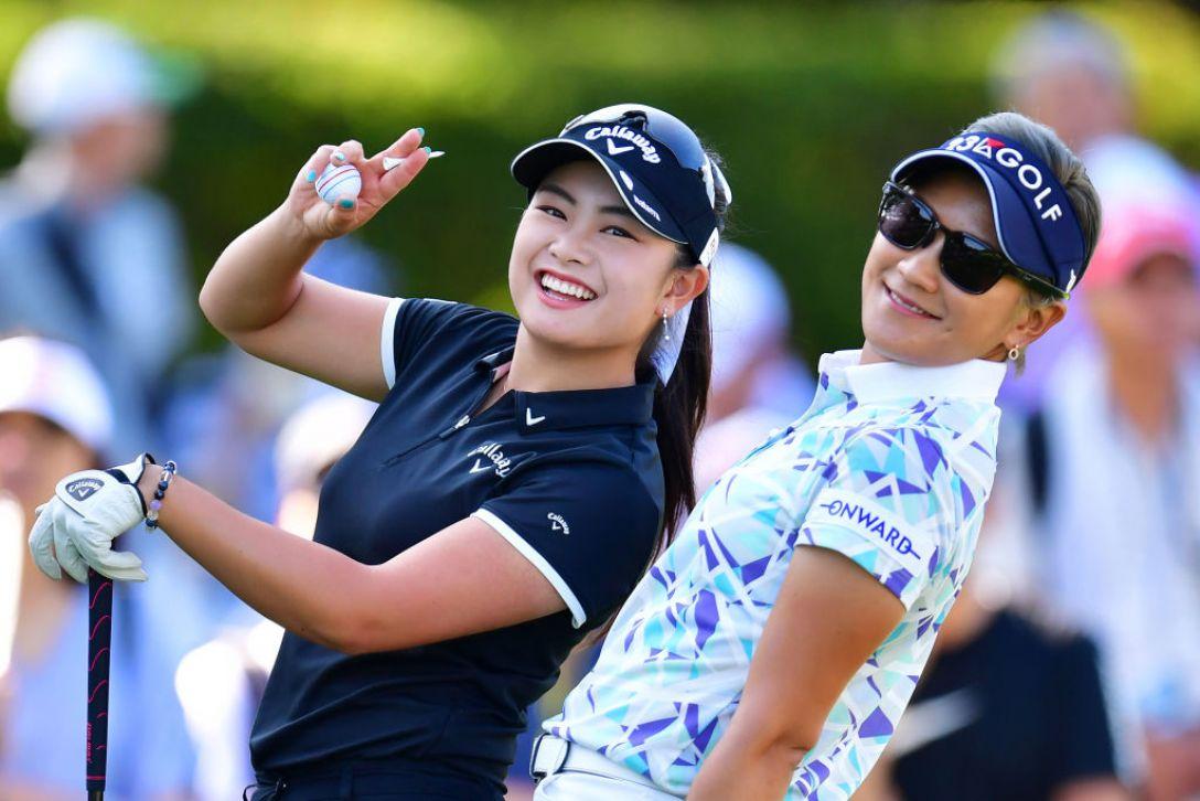 NEC軽井沢72ゴルフトーナメント 第2日 河本結 成田美寿々 <Photo:Atsushi Tomura/Getty Images>