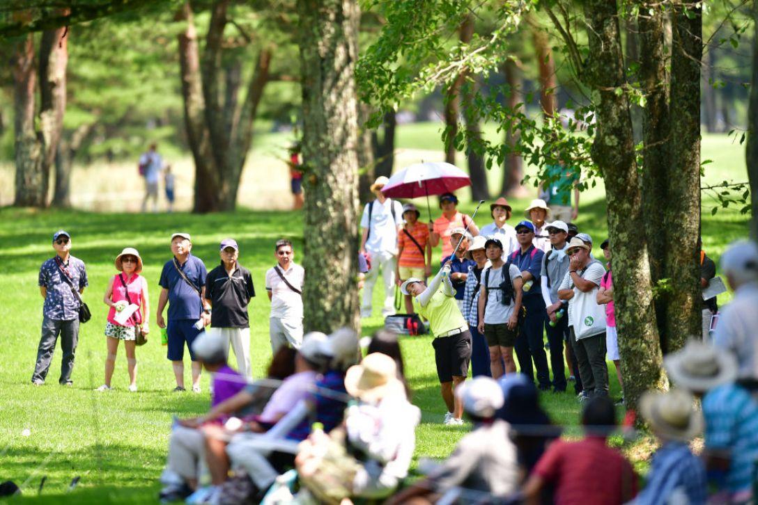 NEC軽井沢72ゴルフトーナメント 第2日 濱田茉優 <Photo:Atsushi Tomura/Getty Images>
