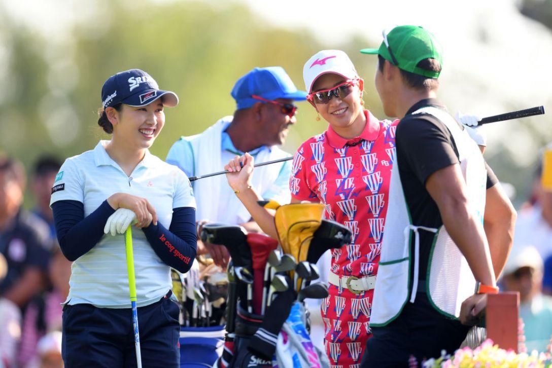ニトリレディスゴルフトーナメント 第3日 原英莉花 小祝さくら <Photo:Atsushi Tomura/Getty Images>