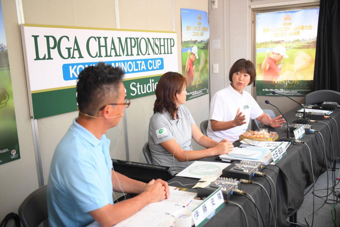 第52回日本女子プロゴルフ選手権大会コニカミノルタ杯 第1日 サテライトスタジオ <Photo:Atsushi Tomura/Getty Images>
