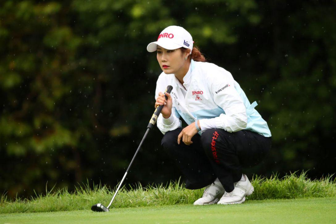 日本女子プロゴルフ選手権大会コニカミノルタ杯 第2日 キム・ハヌル<Photo:Atsushi tomura/Getty Images>
