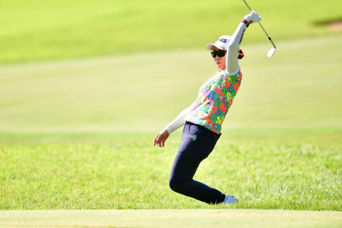 ミヤギテレビ杯ダンロップ女子オープンゴルフトーナメント 第1日 比嘉真美子<Photo:Atsushi tomura/Getty Images>