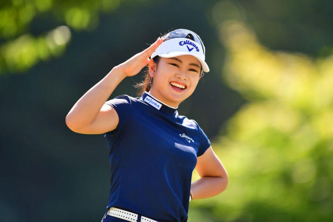 ミヤギテレビ杯ダンロップ女子オープンゴルフトーナメント 第1日 河本結<Photo:Atsushi tomura/Getty Images>
