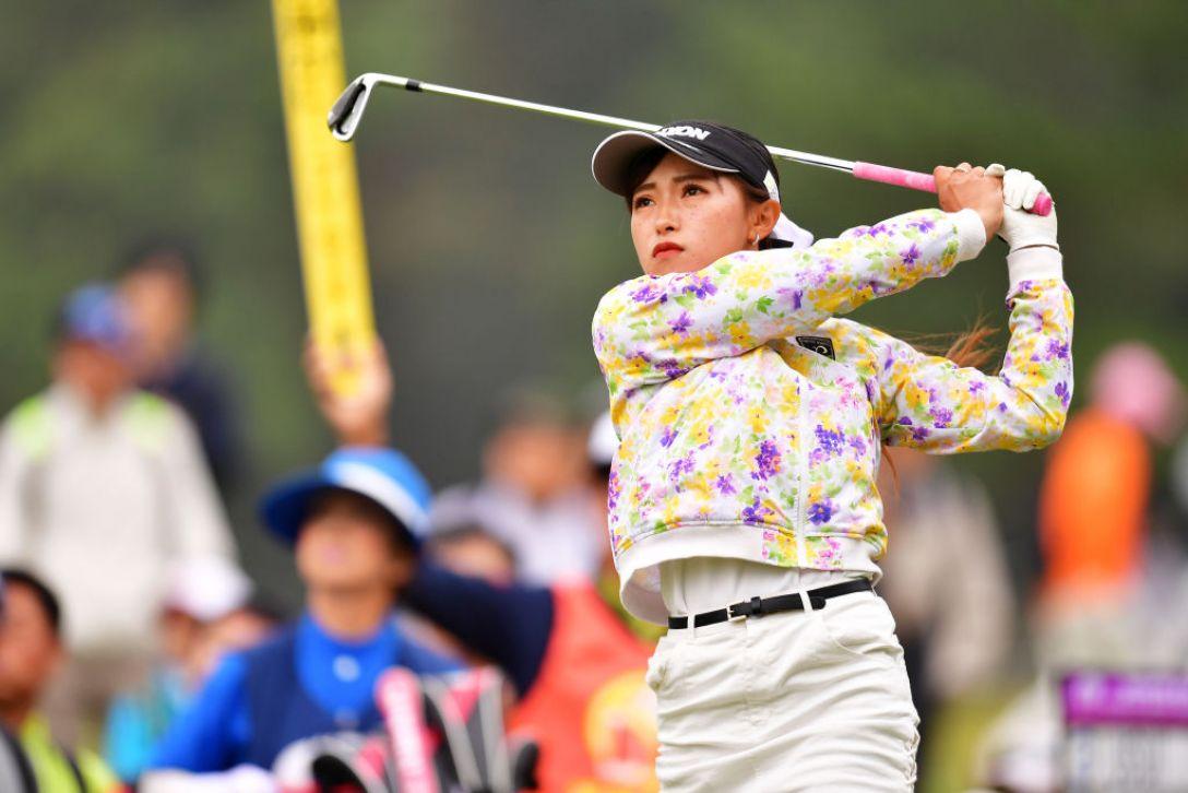 ミヤギテレビ杯ダンロップ女子オープンゴルフトーナメント 第2日 臼井麗香<Photo:Atsushi tomura/Getty Images>