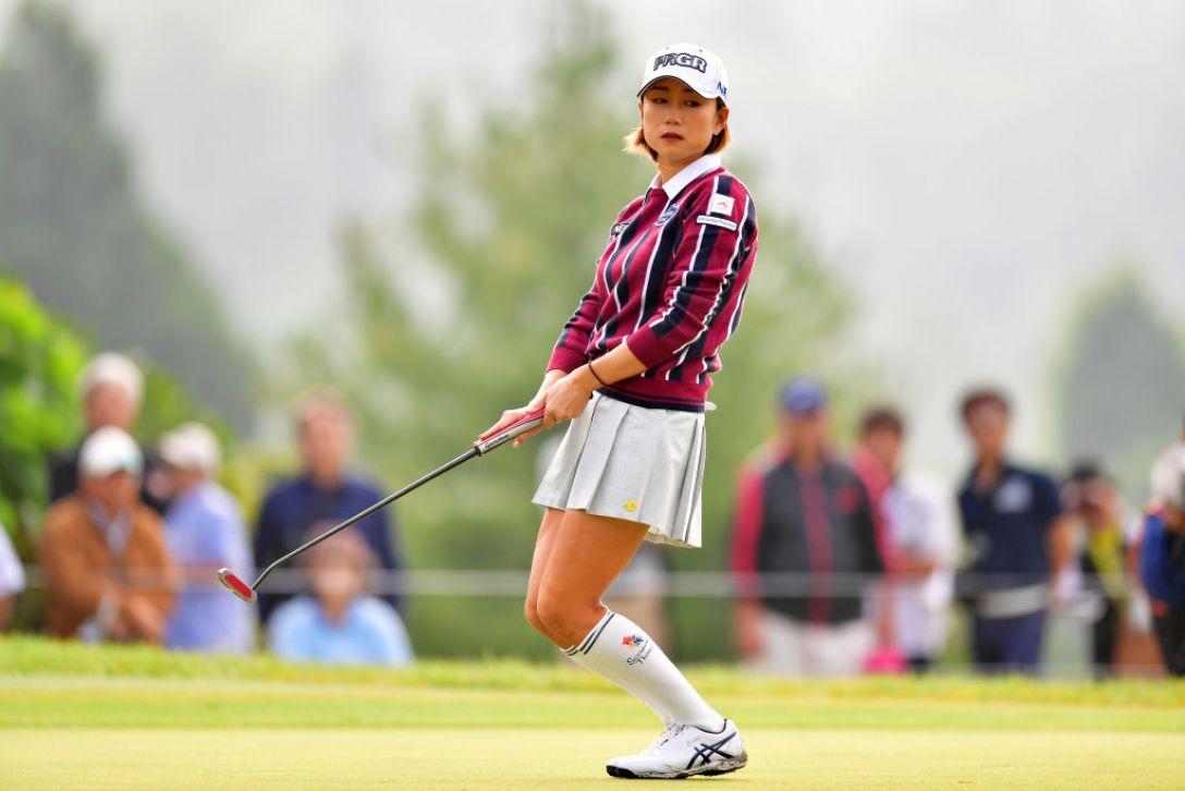 ミヤギテレビ杯ダンロップ女子オープンゴルフトーナメント 第2日 原江里菜<Photo:Atsushi tomura/Getty Images>