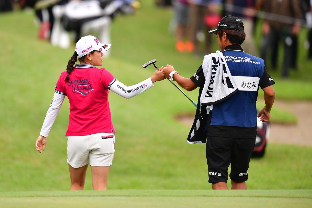 ミヤギテレビ杯ダンロップ女子オープンゴルフトーナメント 最終日 勝みなみ <Photo:Atsushi Tomura/Getty Images>