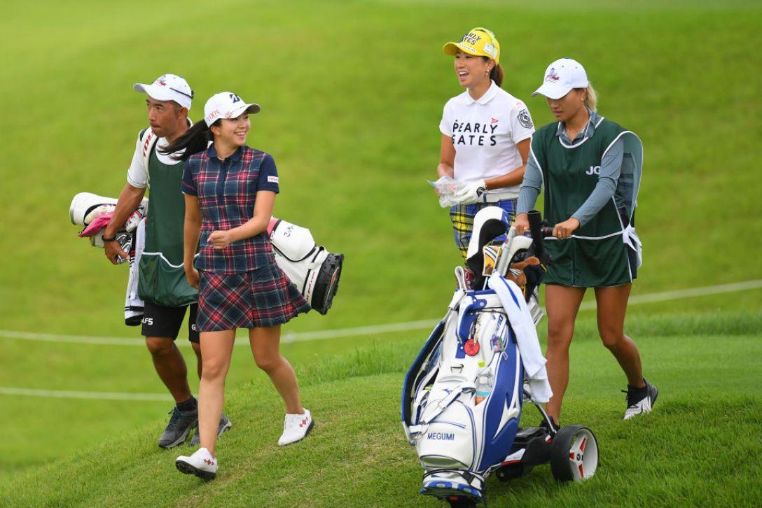 日本女子オープンゴルフ選手権 第1日 堀琴音 木戸愛 <Photo:Atsushi Tomura/Getty Images>