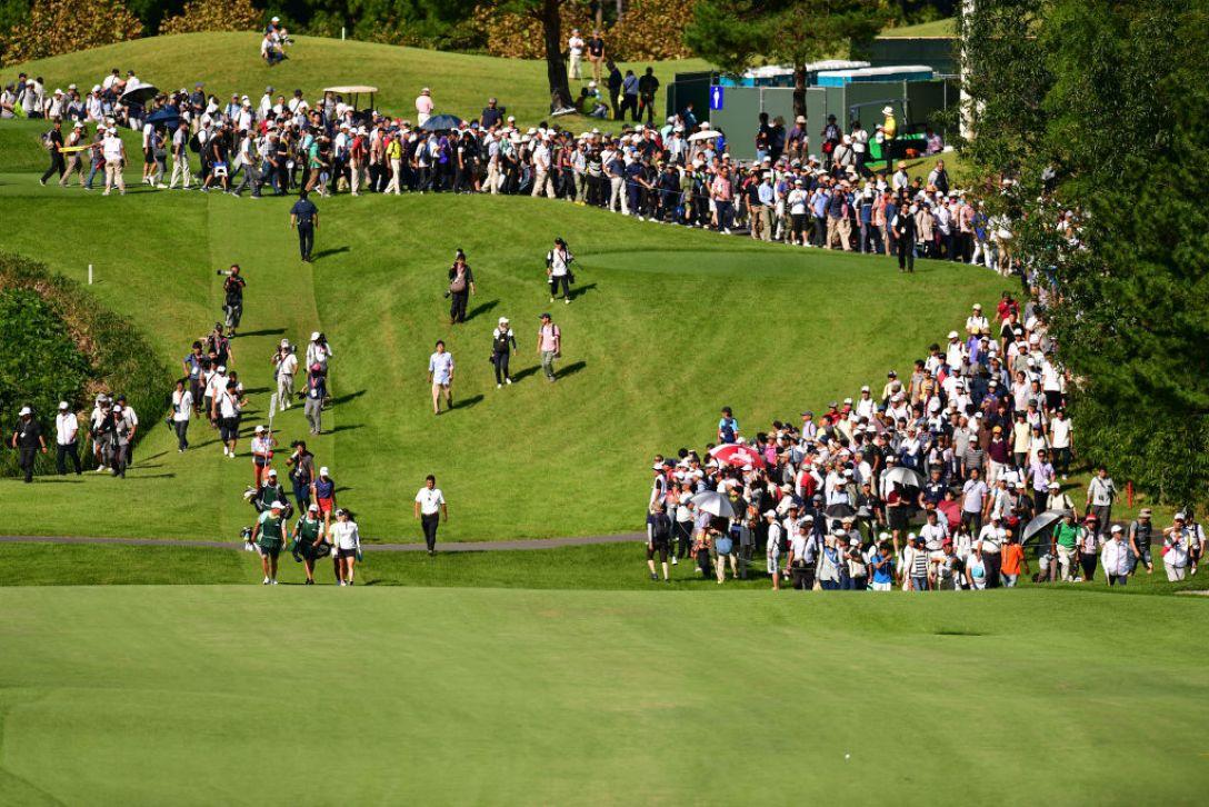 日本女子オープンゴルフ選手権 第2日 渋野日向子 ユソヨン 畑岡 奈紗 <Photo:Atsushi Tomura/Getty Images>