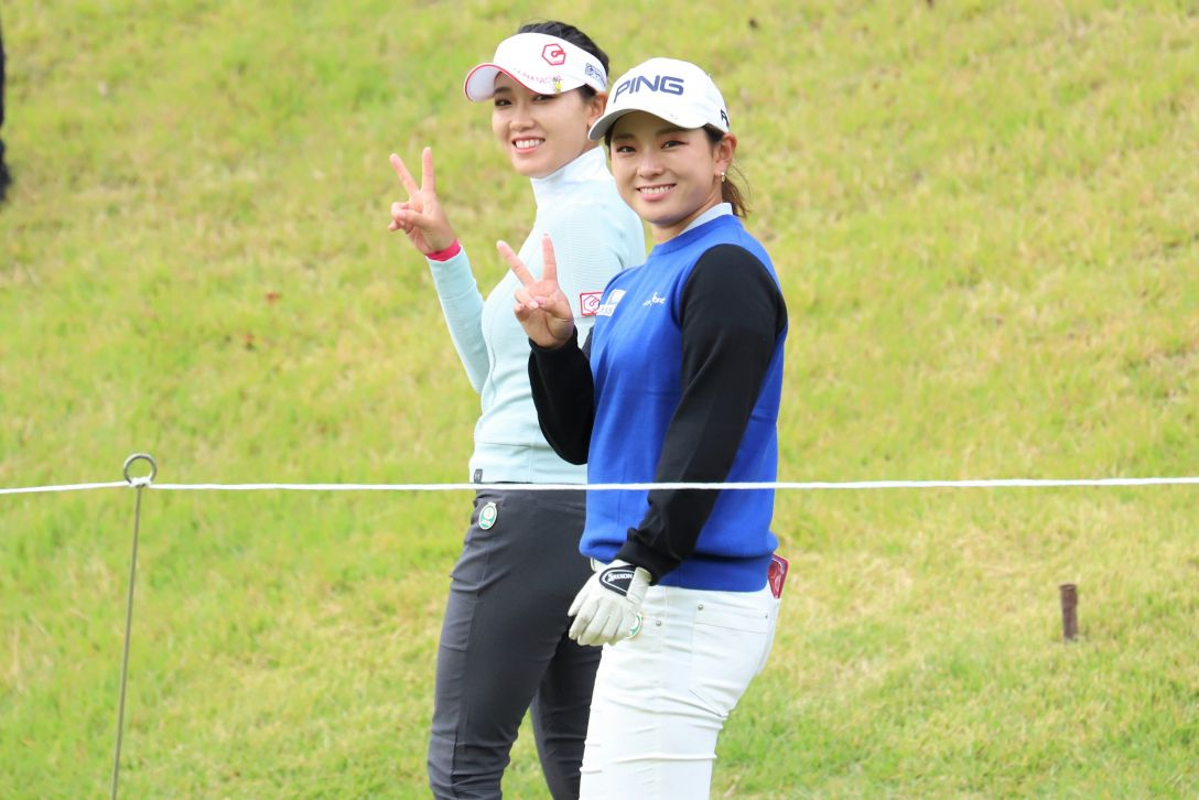 日台交流うどん県レディースゴルフトーナメント 第1日 キムチャンミ 吉川桃