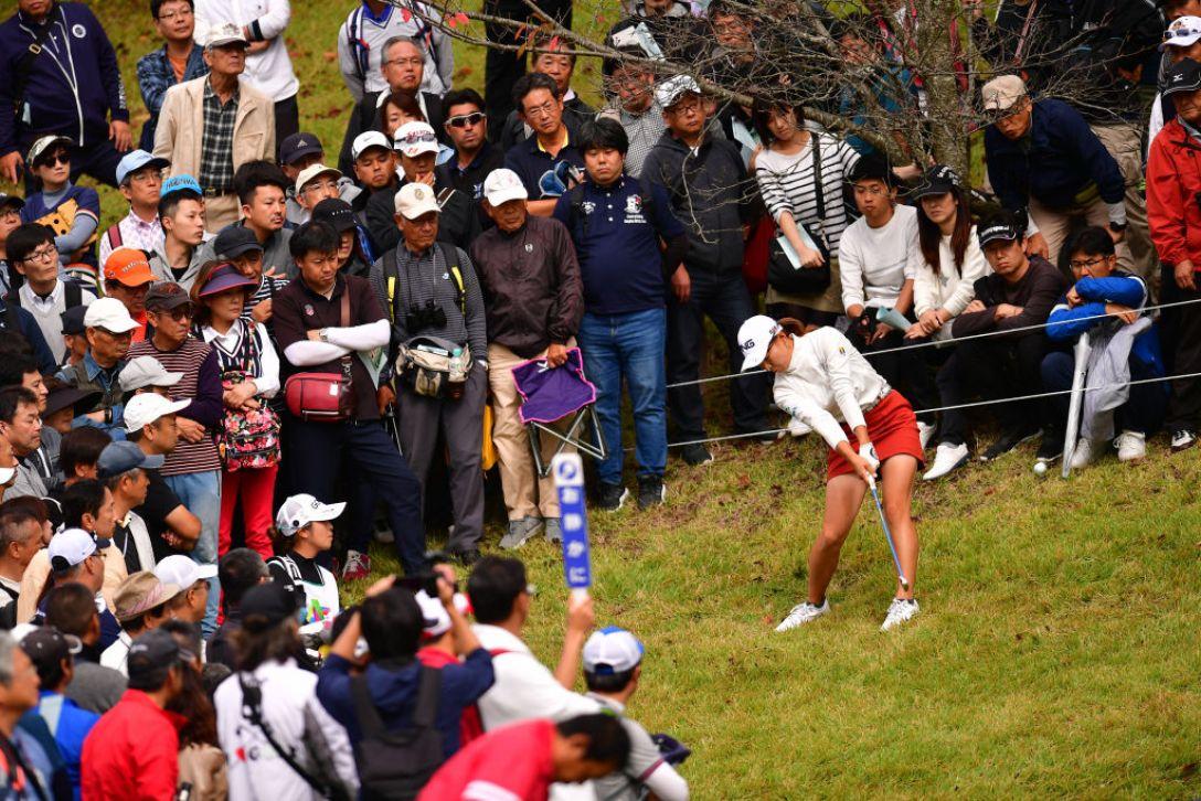 NOBUTA GROUP マスターズGCレディース 第3日 渋野 日向子<Photo:Atsushi tomura/Getty Images>