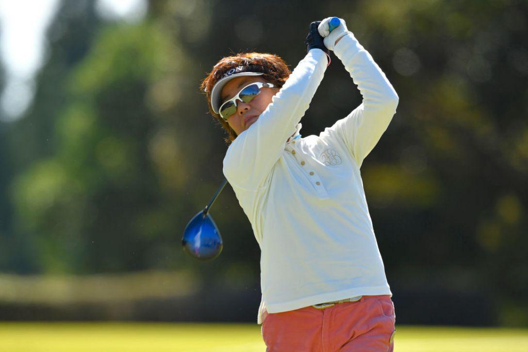 若浦 みどり 2019年度 LPGAレジェンズチャンピオンシップ CHOFUカップ「グランドシニアの部」 第1日 若浦みどり<Photo:Koki Nagahama/Getty Images>