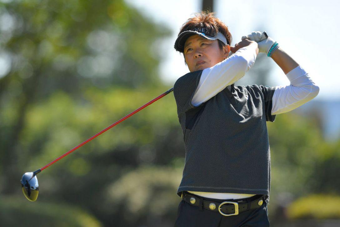 LPGAレジェンズチャンピオンシップ CHOFUカップ 第1日 川久保百代<Photo:Koki Nagahama/Getty Images>
