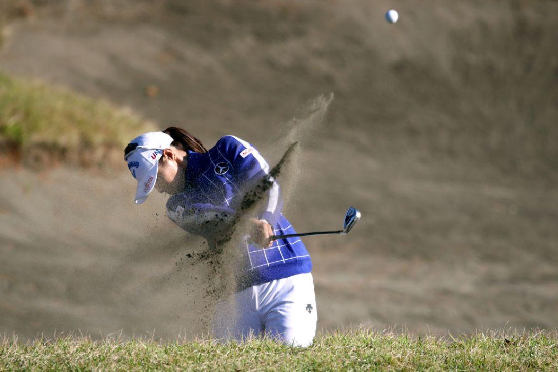 LPGAツアーチャンピオンシップリコーカップ 第2日 柏原明日架 <Photo:Chung Sung-Jun/Getty Images>