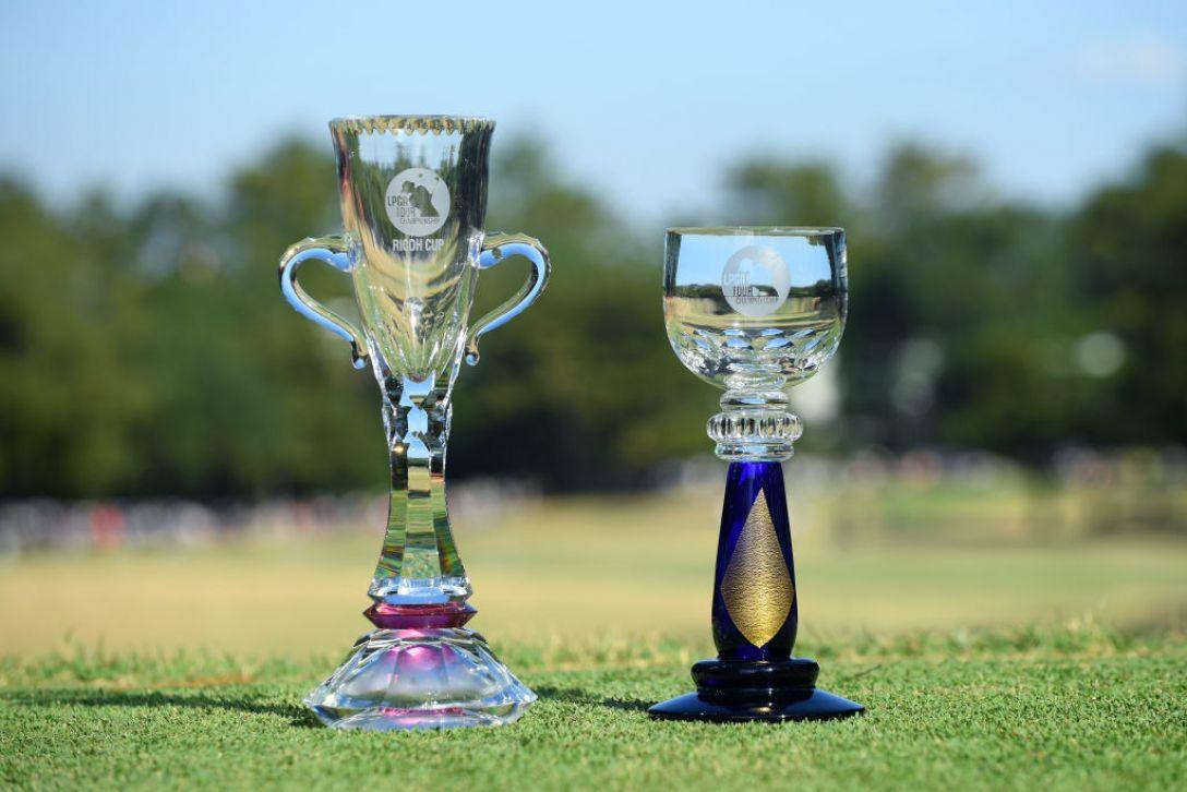 LPGAツアーチャンピオンシップリコーカップ 第3日 トロフィー <Photo:Atsushi Tomura/Getty Images>